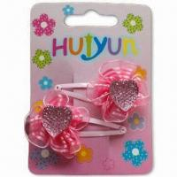 Buy cheap Hair Clips, Customized Designs are Accepted, Made of Metal product