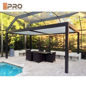 Buy cheap Motorized Louver Modern Aluminum Pergola Horizontal Opening Pattern Aluminum Venetian Blind Roof product