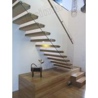 Buy cheap stainless steel handrails wood staircase floating stairs product