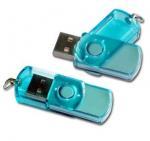 Buy cheap Green / Blue Plastic Swivel USB Flash Drive , Swivel Memory Stick  55*15*10mm product