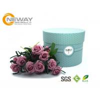 Quality Flower Gift Box Universal Paper Round Flower Box CMYK Full Color Offset Printing for sale