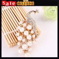 Buy cheap Crystal Scarf Clip Wedding Pearl Peacock Brooch Pin Hijab Pin,Wedding Crystal Brooch Pins product