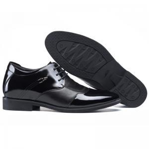 Quality Men Elevator Shoes Genuine Leather Party Formal Dress Shoes Black Taller 2.36 for sale