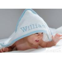 Buy cheap Durable White Hooded Baby Towels Embroidered For Family 350gsm product