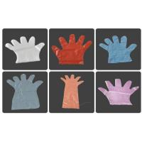 Buy cheap Embossed Smooth Surface Disposable PE Gloves For Restaurant / Hotel / Household product