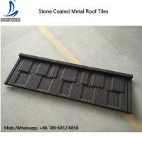 China Environment Friendly Flat Stone Coated Roof Tiles, Shingle Stone Coated Metal Roofing / Roof Tiles on sale