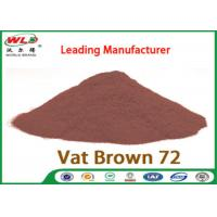 Buy cheap C I Vat Brown 72 Brown GG Chemical Dyes Used In Textile Industry 100% Strength from wholesalers