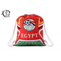 Buy cheap World Cup Egypt Soccer Printed Drawstring Backpack Large Sized With Thick Cotton Ropes product