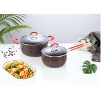 China 2019 hot sales Wholesale cookware Stainless Steel induction non stick cookware sets with marble coating pan on sale