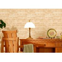 Buy cheap Chinese Style Eco-friendly 3D Brick Grain Pattern Embossed Wallcovering , PVC Material product