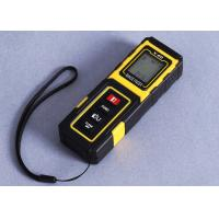 Buy cheap Yellow Small Laser Distance Meter Accuracy 40m Handheld Laser Distance Measurer product