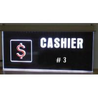 Quality Custom RGB LED Lighted Laser Engraving Acrylic Edge Lit Sign Base for sale