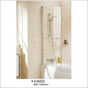 Buy cheap Frameless Pivot Door Tub Screen , Glass Shower Bathtub Screen  800*1400 product
