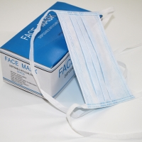 Buy cheap Disposable String tie-on on the back 3ply protective surgical non woven face mask tie on 3-ply face mask product