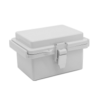 Buy cheap Watertight Hinged Plastic Enclosures Abrasion Resistant Light Gray Finish from wholesalers