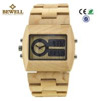 Buy cheap Unique Gift Maple Wooden Watches For Men , Square Wooden Wrist Watch product
