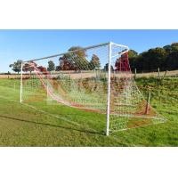 Buy cheap Striped Soccer Goal Net-Knotted Polyethylene-square  120mm mesh product