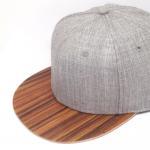Buy cheap Blank Wool Body Mens Plain Black Baseball Cap Wooden Brim Flat Curved Visor Type product