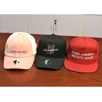 Buy cheap Wholesale cotton twill make America great again red custom logo color baseball hats caps product