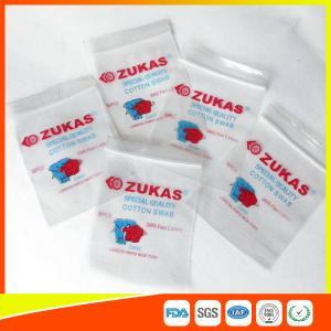 Buy cheap Sacos de plástico do espaço livre do LDPE com o zíper Reclosable para o armazenamento médico do cotonete de algodão product