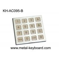 China Dust Proof Stainless Steel Keyboard IP 65 Access Control Keypad with 16 Keys on sale