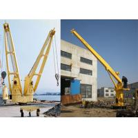 Buy cheap Long Telescopic Boom Offshore Marine Cranes Hydraulic Deck Crane Machine Emergency Stop Button product
