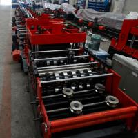 Buy cheap 15KW Z & C Purlin Roll Forming Machine With Hydraulic / Manual Decoiler and Siemens PLC Automatic Control Whole Line product