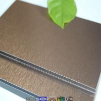 Buy cheap Cost effective new decoration material copper brushed sanwich panels product