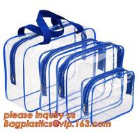 Buy cheap waterproof hanging toiletry bag for travel, Vinyl Transparent PVC Cosmetic Bag /Clear Toiletry Bag/PVC Travel Makeup Bag product