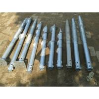 China Hot Dipped Galv  Screw Ground Anchor Steel Material For Foundation Flag Poles on sale