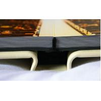 Buy cheap Custom 12x18 White Leather Wedding Photo Albums , Scratch Resistant Flush Mount Album product