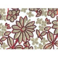 Buy cheap Luxury 100% Polyester Embroidered Home Decor Fabric 100-140gsm product