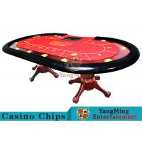 Buy cheap Tiger Legs Poker Game Table With European Style Groove Design In Mesa Runway product