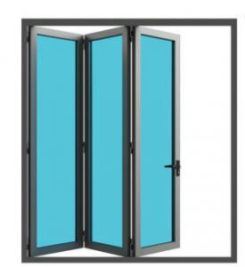 Buy cheap OEM Extruded Aluminum Folding Patio Doors Fiberglass Anodizing product