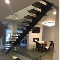 Buy cheap Classic european style black stair steel tread staircase product