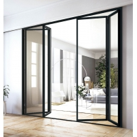 Buy cheap ODM Triple Glazed Aluminium Bifold Doors Lightweight Durable With Security Mesh product