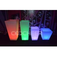 China Remote Control Illuminated Led Lighted Flower Pots / Flower Planter Luxury on sale