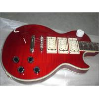 lightning Fretborard and 3 pickups Electric Guitar in red  color