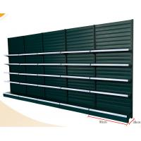 Buy cheap Strip Type Back Panel Supermarket Display Shelving With Hook / Basket Accessories product
