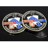 Buy cheap Craft Die Cast Brass Challenge Coin , Small 3D Challenge Coins With Epoxy product