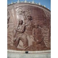 Buy cheap Natural Stone Carved Wall Relief product