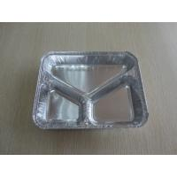 Custom Frozen Food Disposable Aluminum Foil Storage Containers With Compartment