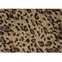 Buy cheap 100% Polyester Stretch Fabric Leopard Print Fabric For Interlining / Lingerie product