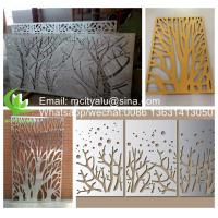 Buy cheap Tree Aluminum perforated sheet for facade cladding fence with 2mm thickness laser cutting product