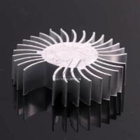 Sunflower Shape Aluminium Heat Sink Profiles , Heat Sink Extrusion Anodidzed