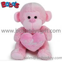 Buy cheap Wholesale China Funny Pink Monkey Plush Toy With Pink Heart Pillow product