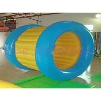 China Blue / Yellow Inflatable Water Walking Ball PVC Water Rolling Toy For Water Park on sale