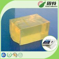 Quality Yellowish and semi-transparent Block Hot Melt Pressure Sensitive Glue Adhesive for sale