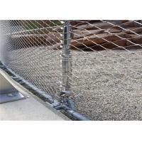 Animal Diamond Wire Mesh Fencing , Flexible Stainless Steel Tiger Wire Mesh