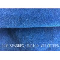 Buy cheap 32W SPANDEX INDIGO VELVETEEN FOR PANTS FOR GARGEMT product